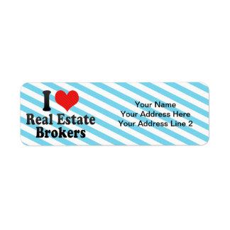 I Love Real Estate Brokers Return Address Label