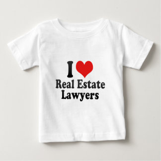 I Love Real Estate Lawyers Baby T-Shirt