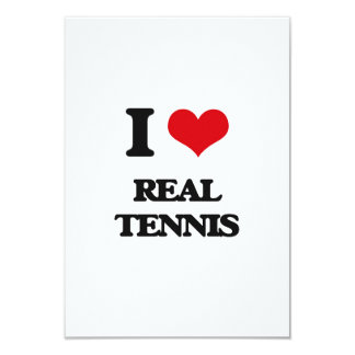I Love Real Tennis Personalized Invitations