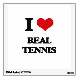 I Love Real Tennis Wall Sticker