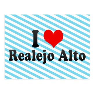 I Love Realejo Alto, Spain Postcard