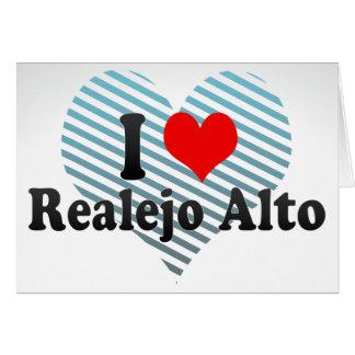 I Love Realejo Alto, Spain Stationery Note Card