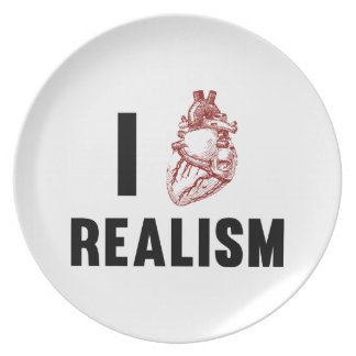 I Love Realism Party Plates