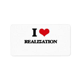 I Love Realization Custom Address Labels
