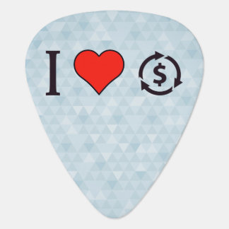 I Love Realized Investment Guitar Pick