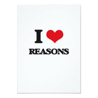 I Love Reasons 5x7 Paper Invitation Card