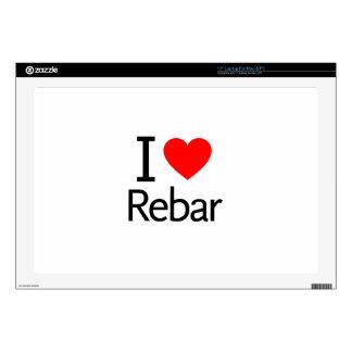 """I Love Rebar 17"""" Laptop Decal"""