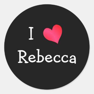 I Love Rebecca Classic Round Sticker