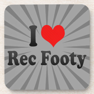 I love Rec Footy Beverage Coaster