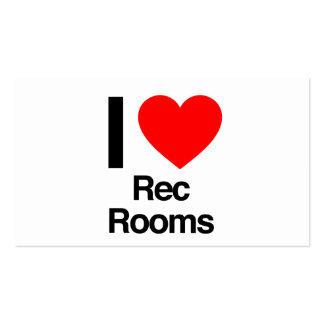 i love rec rooms business cards
