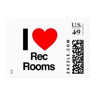 i love rec rooms postage stamps