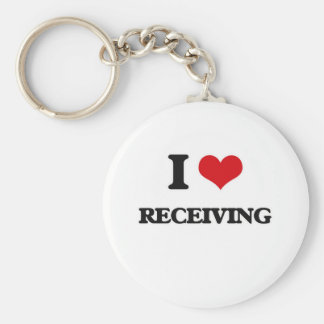 I Love Receiving Keychain