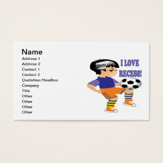 I Love Recess Business Card