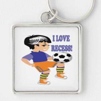 I Love Recess Keychain