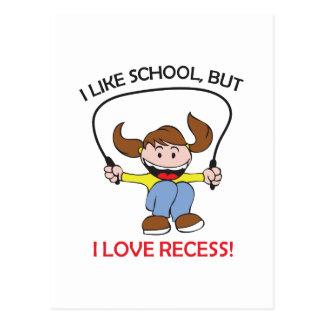 I LOVE RECESS POST CARDS