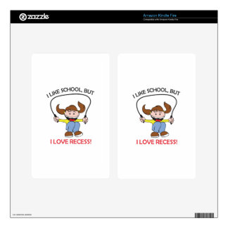 I LOVE RECESS DECAL FOR KINDLE FIRE