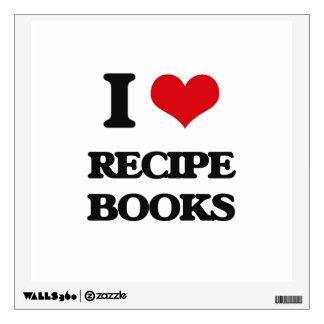 I Love Recipe Books Wall Decor