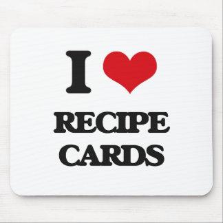 I Love Recipe Cards Mouse Pad