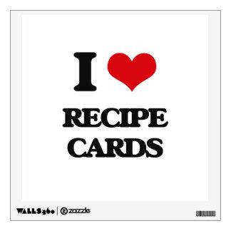I Love Recipe Cards Wall Graphics