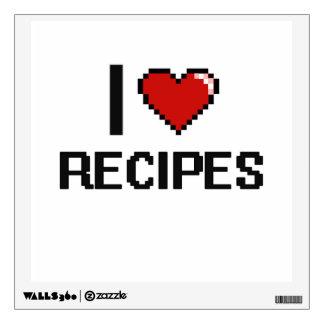 I Love Recipes Wall Skins