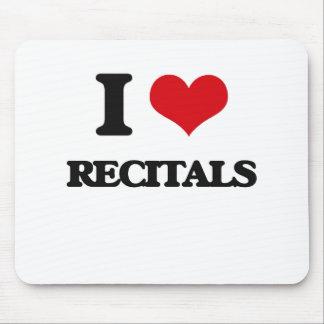 I Love Recitals Mouse Pad
