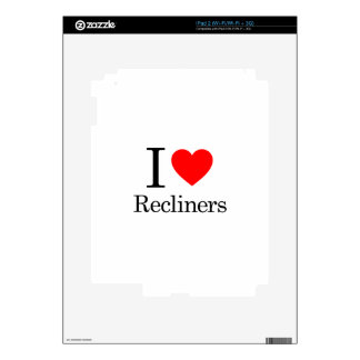 I Love Recliners Decals For iPad 2
