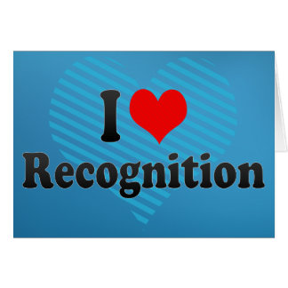 I love Recognition Card