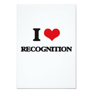 """I love Recognition 3.5"""" X 5"""" Invitation Card"""