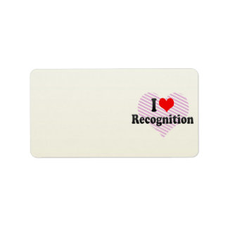 I love Recognition Personalized Address Labels