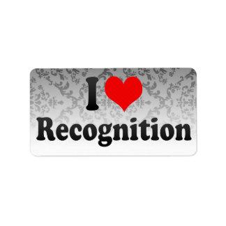 I love Recognition Labels