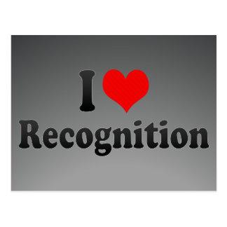 I love Recognition Postcards