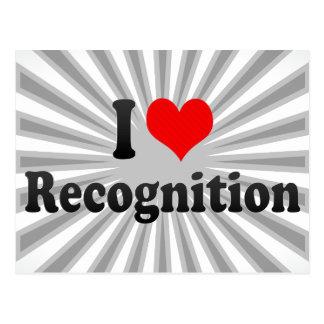 I love Recognition Postcard
