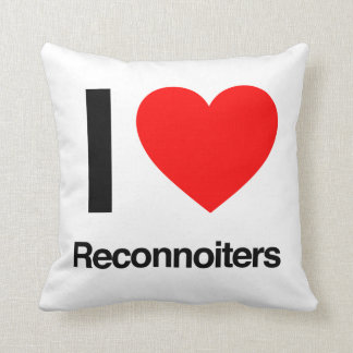 i love reconnoiters throw pillow