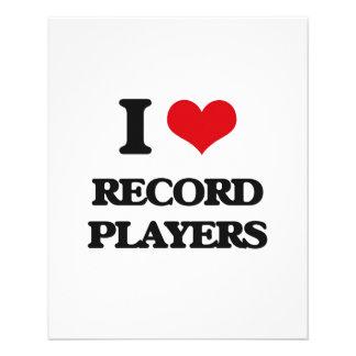 I Love Record Players Custom Flyer