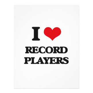 I Love Record Players Full Color Flyer