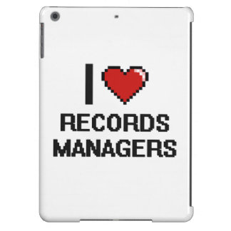 I love Records Managers iPad Air Cover