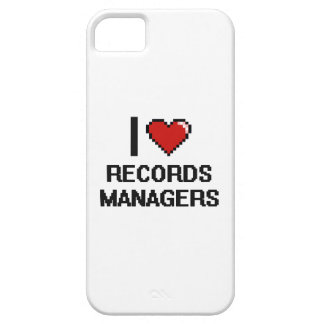 I love Records Managers iPhone 5 Covers