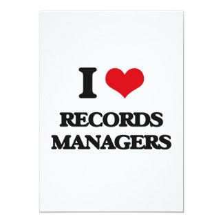 I love Records Managers 5x7 Paper Invitation Card