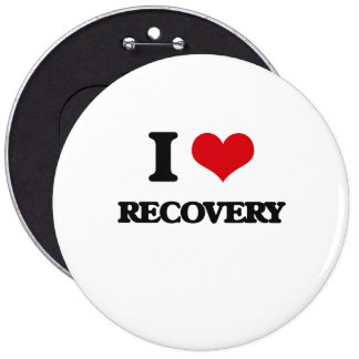 I Love Recovery Pinback Buttons