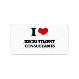 I love Recruitment Consultants Address Label
