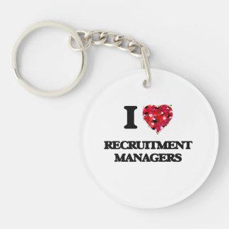 I love Recruitment Managers Single-Sided Round Acrylic Keychain