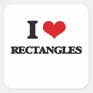 I Love Rectangles Square Sticker