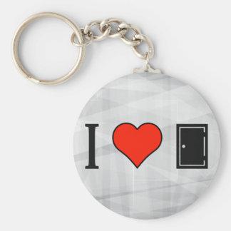 I Love Rectangular Doors Basic Round Button Keychain