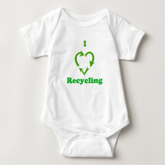 I Love Recycling Baby Bodysuit