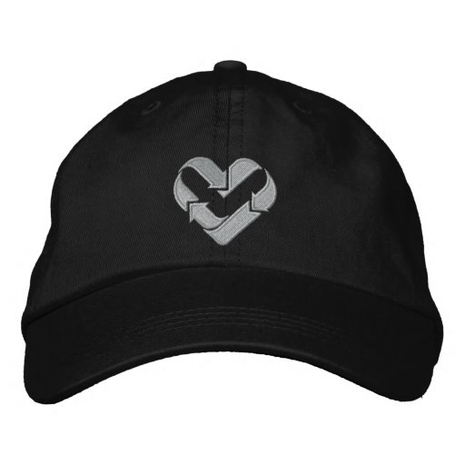 ♥ I love recycling ♥ Embroidered Baseball Caps