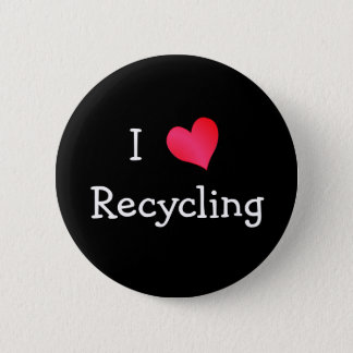 I Love Recycling Pinback Button