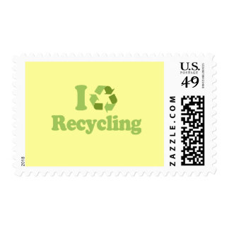 I Love recycling Postage Stamp