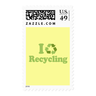 I Love recycling Postage Stamps