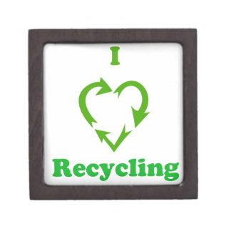 I Love Recycling Premium Jewelry Box