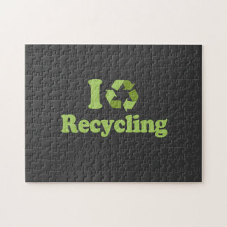 I Love recycling T-shirt / Earth Day T-shirt Jigsaw Puzzle